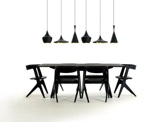 Slab Chairs and Dining Table by Tom Dixon