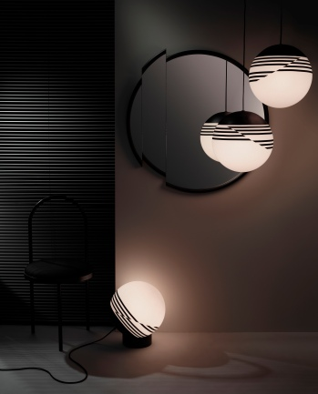 Optical Suspension Lamp by Lee Broom